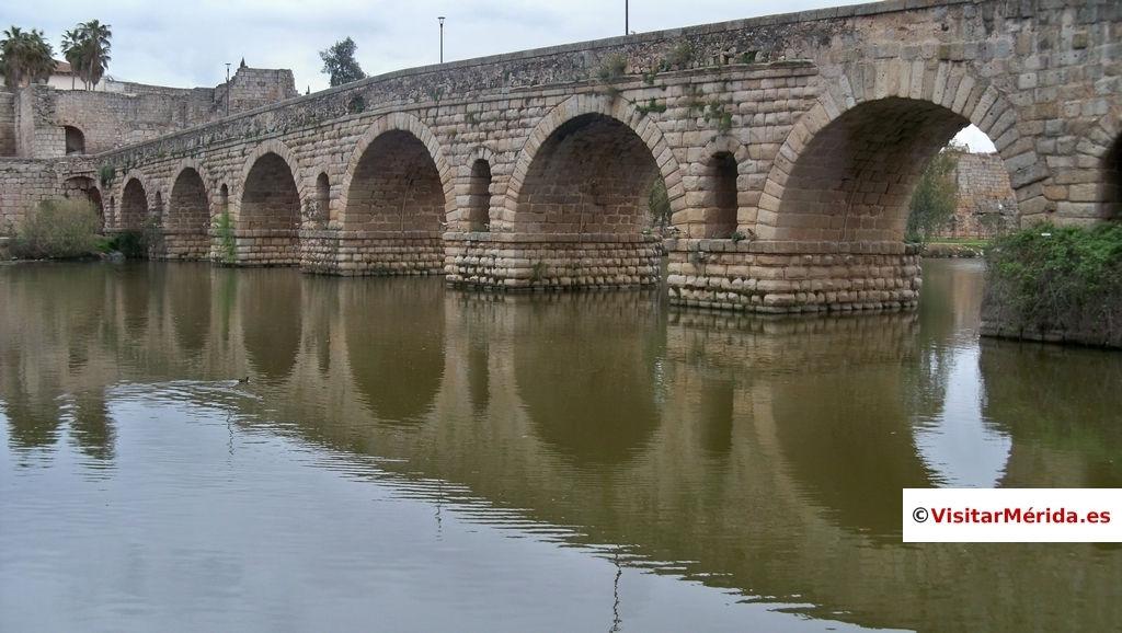 puente romano merida lado izquierdo