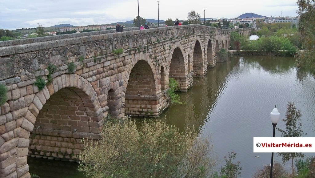 puente romano de merida vista derecha