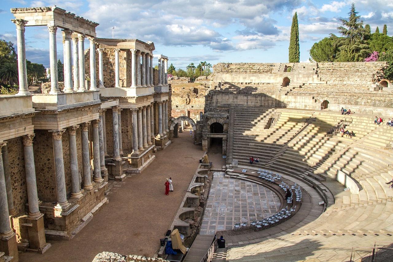 vista lateral teatro romano