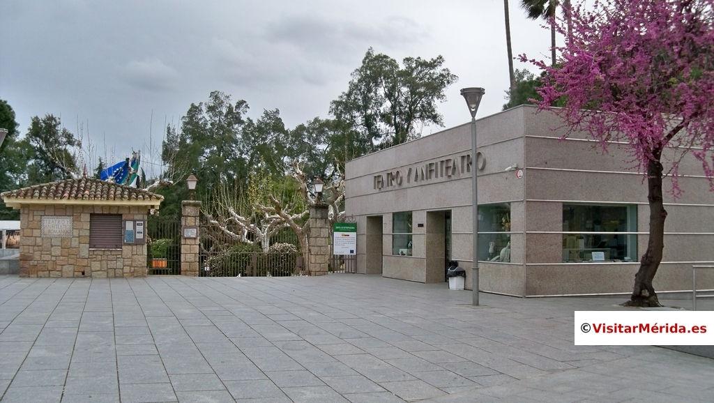 explanada acceso teatro romano merida comprar entradas aparcamiento gratis 2018