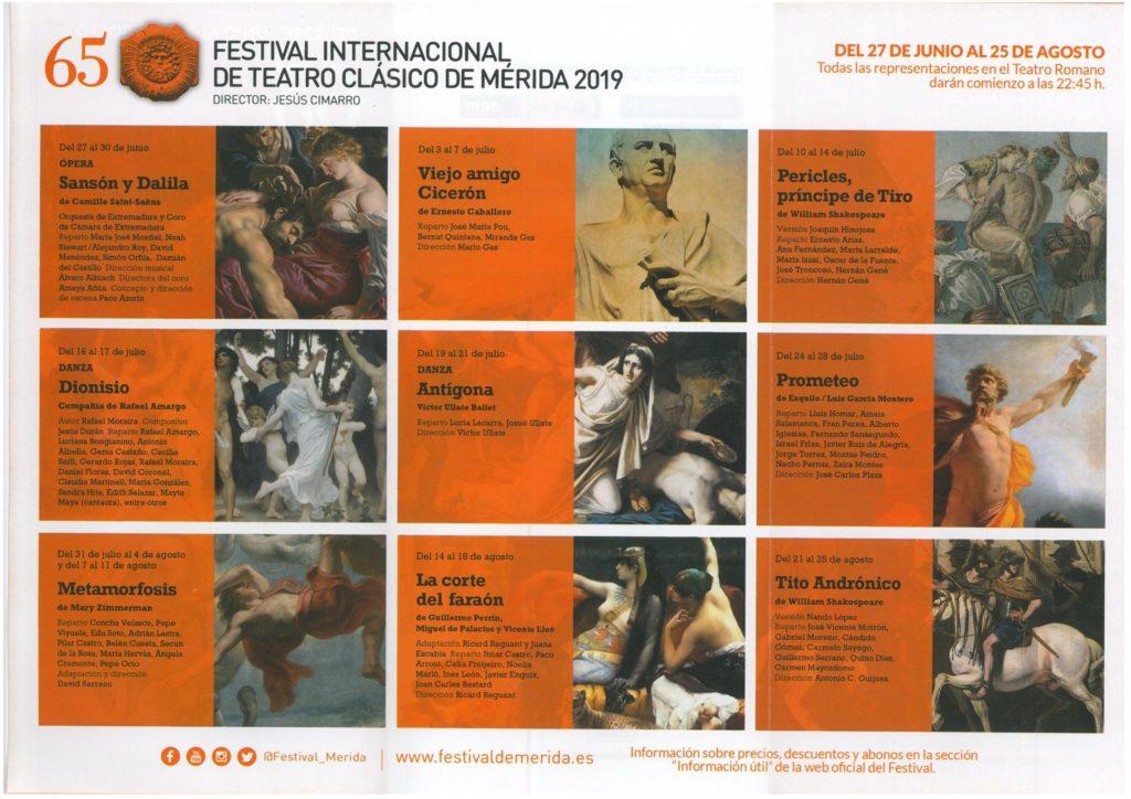 programacion festival teatro merida 2019